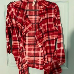 Sweaters - Red Flannel Shawl
